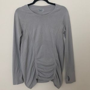 Aletha Light Gray Long Sleeve Top- Size M